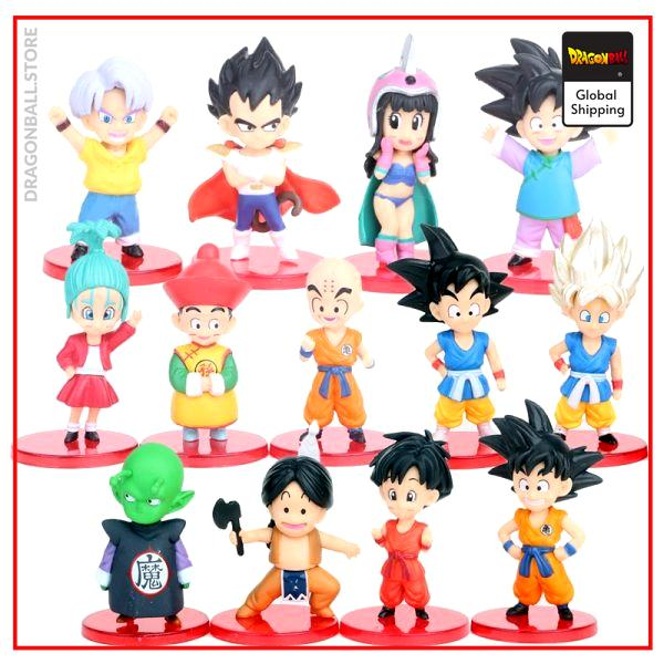 DBZ Son Goku Trunks Vegeta Bulma Upa Action Figures Kulilin Pan Piccolo Chichi Anime Figurines Kids 1 - Dragon Ball Store