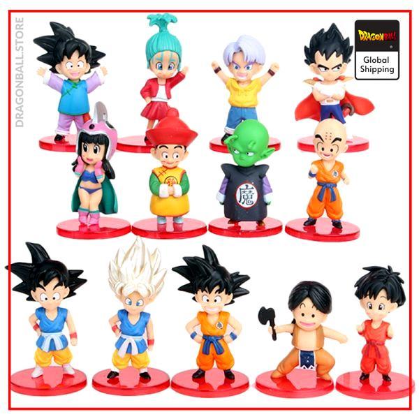 DBZ Son Goku Trunks Vegeta Bulma Upa Action Figures Kulilin Pan Piccolo Chichi Anime Figurines Kids - Dragon Ball Store